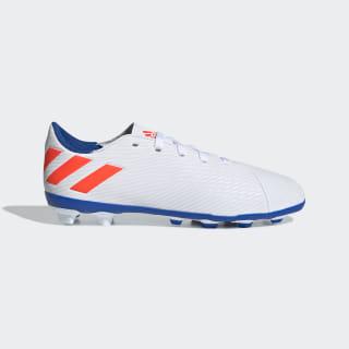 Tenis de Fútbol Nemeziz Messi 19.4 Terreno Flexible Cloud White / Solar Red / Football Blue F99931