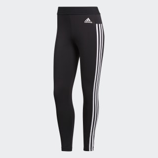 Essentials 3 Stripes Tights Black / White BS4820