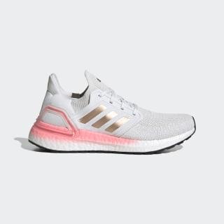 Кроссовки для бега Ultraboost 20 Crystal White / Copper Metallic / Light Flash Red EG0724