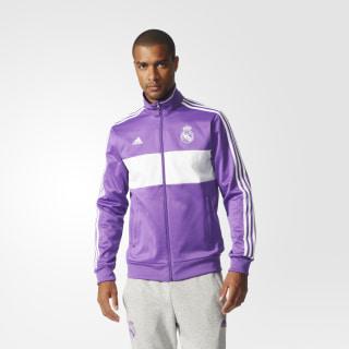 Chamarra Deportiva Real Madrid 3 Franjas Ray Purple / Crystal White AZ5354