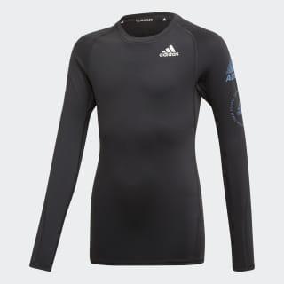 Tričko Alphaskin Sport Warm Black / Tech Ink ED6353