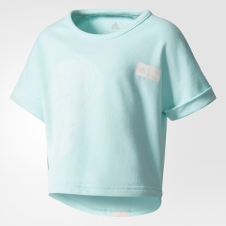 T-shirt Disney Frozen Cropped Energy Aqua/Icey Pink CF1541