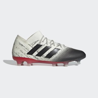 Calzado de Fútbol Nemeziz 18.1 Terreno Firme Off White / Core Black / Active Red BB9425