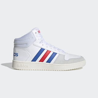 HOOPS 2.0 MID Cloud White / Blue / Active Red EE7382