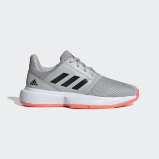 CourtJam Shoes Grey Two / Core Black / Signal Coral EH1102