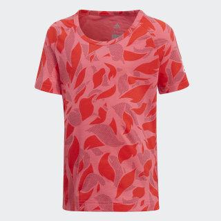 Camiseta Algodón Little Girls SUPER PINK/HI-RES RED S18/NOBLE MAROON/WHITE DJ1526
