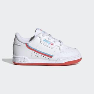 Tênis Continental 80  ftwr white/bright red/bright cyan EG7310