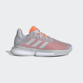 Кроссовки для тенниса SoleMatch Bounce lgh solid grey / lgh solid grey / hi-res coral G26789