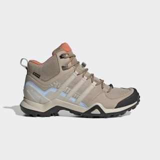 Terrex Swift R2 Mid GORE-TEX Hiking Shoes Trace Khaki / Clear Brown / Glow Blue G26560
