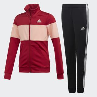 Pants Con Sudadera Yg Pes Ts Top:active maroon/glow pink Bottom:BLACK/ACTIVE MAROON F19 ED4640