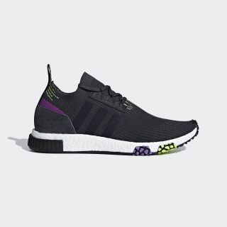 NMD_Racer Primeknit Shoes Carbon / Core Black / Solar Yellow B37640