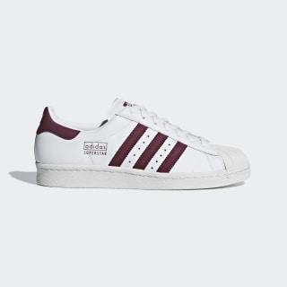 Кроссовки Superstar 80s ftwr white / maroon / crystal white CM8439