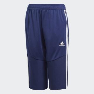 Укороченные брюки Tiro 19 dark blue / white DT5150