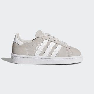 Zapatilla Campus Grey One/Footwear White/Footwear White BY9595