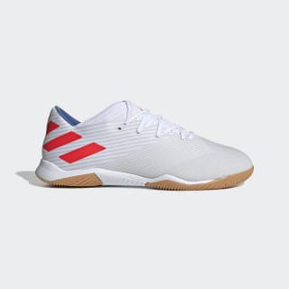 Футбольные бутсы (футзалки) Nemeziz Messi 19.3 IN ftwr white / solar red / football blue F34431