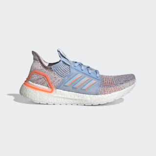 Ultraboost 19 Shoes Glow Blue / Hi-Res Coral / Active Maroon G27483