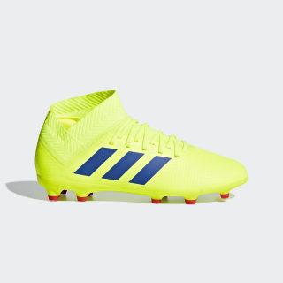 Футбольные бутсы Nemeziz 18.3 FG solar yellow / football blue / active red CM8505