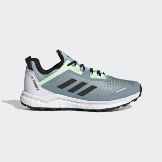Terrex Agravic Flow Trail Running Shoes Ash Grey / Core Black / Glow Green G26099