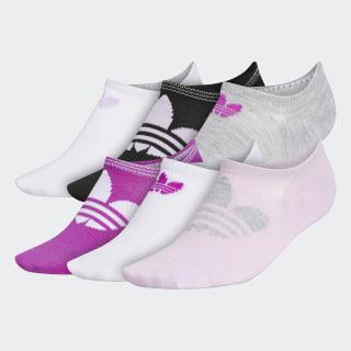 Trefoil Superlite No-Show Socks 6 Pairs Light Purple CM3984