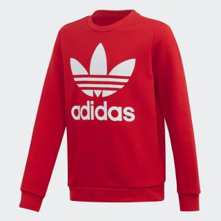 Sweat-shirt Trefoil Crew Scarlet / White ED7798