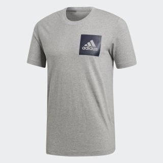 Camiseta Essentials Box Logo Medium Grey Heather CZ9180