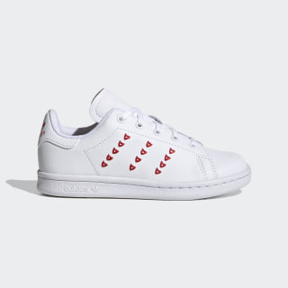 Sapatos Stan Smith Cloud White / Cloud White / Lush Red EG6500