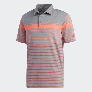 Ultimate365 Engineered Heathered Polo Shirt Flash Red / Real Coral / Grey Three Mel FJ9831