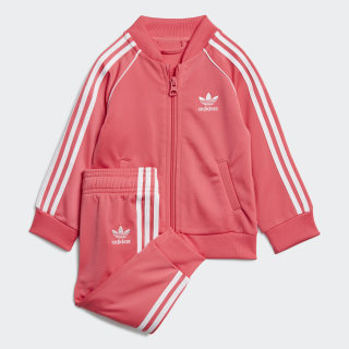 SST Tracksuit Real Pink / White ED7670