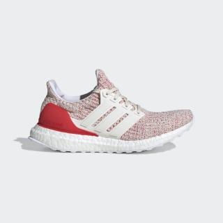 Ultraboost Shoes Chalk White / Chalk White / Active Red DB3209