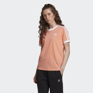 T-shirt 3-Stripes Chalk Coral / White FM3320