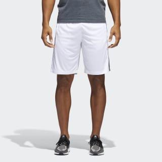 Pantaloneta D2M 3 Rayas WHITE/BLACK BR1459