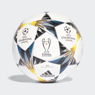 UCL Finale Kiev Mini Ball White / Black / Solar Yellow / Blue CF1196
