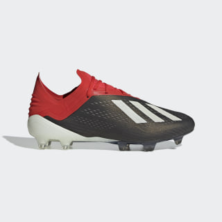 X 18.1 Firm Ground Cleats Core Black / Cloud White / Active Red BB9345