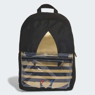 Adicolor Large Trefoil Classic Backpack Black / Gold Metallic FT8913