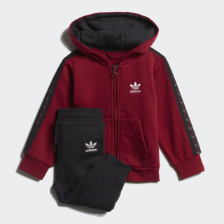 Tape Hoodie Set Collegiate Burgundy EJ7038