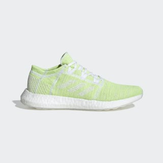 Pureboost Go LTD Shoes Green / Cloud White / Hi-Res Yellow D97423