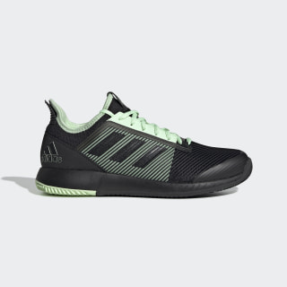 Adizero Defiant Bounce 2 Shoes Core Black / Core Black / Glow Green EF0560