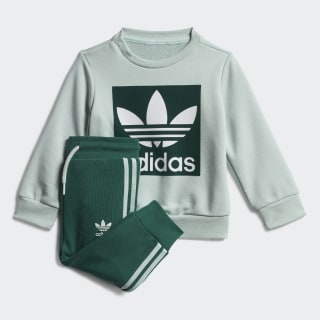 Crew Sweatshirt Set Vapour Green / White ED7676