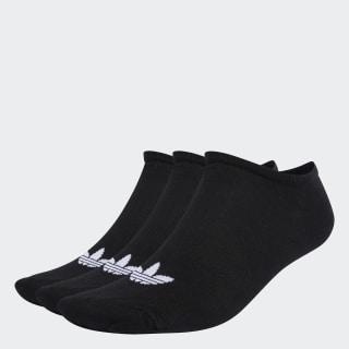 Trefoil Liner Socks 3 Pairs Black / Black / White S20274