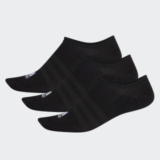 Ponožky No-Show – 3 páry Black / Black / Black DZ9416