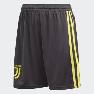 Short Juventus Youth Third Carbon / Shock Yellow CF3508