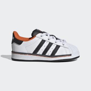 Sapatos Superstar Cloud White / Core Black / Orange FV3693