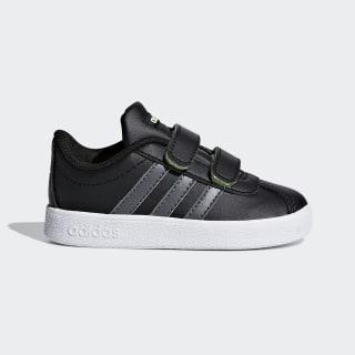 VL Court 2.0 Shoes Core Black / Grey Five / Hi-Res Yellow F36402