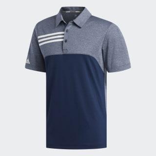 3-Stripes Heather Blocked Polo Shirt Collegiate Navy Heathered CY9298