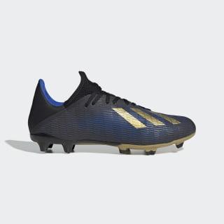 Scarpe da calcio X 19.3 Firm Ground Core Black / Gold Met. / Football Blue F35380