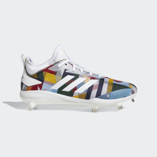 Adizero Afterburner V Nations Cleats Cloud White / Cloud White / Grey B41492