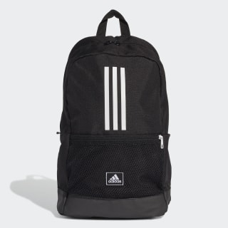 Classic 3-Stripes Backpack Black / White / Solar Red FJ9267