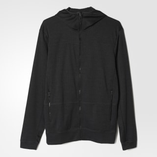 adidas Grid Hooded Fleece Jacket - Black   adidas US d404489525