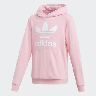 Sudadera con capucha Trefoil Light Pink / White DV2877