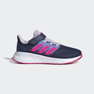 Run Falcon Shoes Tech Indigo / Shock Pink / Purple Tint EG6148
